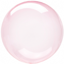"Crystal Clearz Balloon - Dark Pink Crystal Clearz (18"") 1pc"